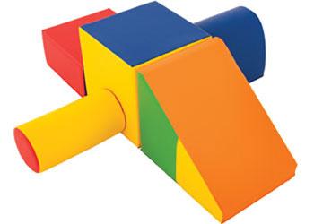 Scramble play foam vinyl 5 piece set mta catalogue for Foam blocks building construction